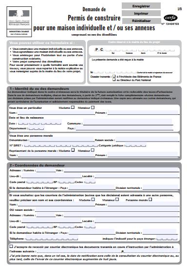 T l charger les formulaires tout savoir sur la for Cerfa maison individuelle