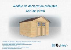 Mod les de d claration pr alable de travaux tout savoir sur la r glementation et l 39 urbanisme - Abri de jardin declaration de travaux ...